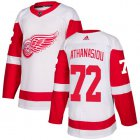 Cheap Adidas Red Wings #72 Andreas Athanasiou White Road Authentic Stitched Youth NHL Jersey
