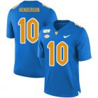 Cheap Pittsburgh Panthers 10 Quadree Henderson Blue 150th Anniversary Patch Nike College Football Jersey