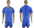 Cheap Finland Blank Away Soccer Country Jersey