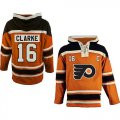 Cheap Flyers #16 Bobby Clarke Orange Sawyer Hooded Sweatshirt Stitched NHL Jersey