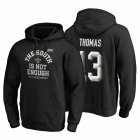 Cheap New Orleans Saints #13 Michael Thomas 2019 NFC South Division Champions Black Cover Two Hoodie