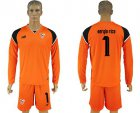 Cheap Sevilla #1 Sergio Rico Orange Goalkeeper Long Sleeves Soccer Club Jersey