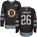 Cheap Adidas Bruins #26 Par Lindholm Black 1917-2017 100th Anniversary Stitched NHL Jersey