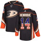 Cheap Adidas Ducks #14 Adam Henrique Black Home Authentic USA Flag Youth Stitched NHL Jersey