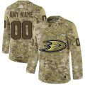 Cheap Men's Adidas Ducks Personalized Camo Authentic NHL Jersey