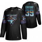 Cheap San Jose Sharks #39 Logan Couture Men's Adidas 2020 Los Tiburones Limited NHL Jersey Black