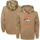 Cheap Youth Denver Broncos Nike Khaki 2019 Salute to Service Therma Pullover Hoodie