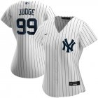 Cheap New York Yankees #99 Aaron Judge Nike Women's Home 2020 MLB Player Name Jersey White