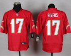 Cheap Nike Chargers #17 Philip Rivers Red Men's Stitched NFL Elite QB Practice Jersey