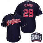 Cheap Indians #28 Corey Kluber Navy Blue Alternate 2016 World Series Bound Stitched Youth MLB Jersey