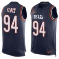 Cheap Nike Bears #94 Leonard Floyd Navy Blue Team Color Men's Stitched NFL Limited Tank Top Jersey
