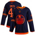 Cheap Adidas Oilers #41 Mike Smith Navy Alternate Authentic Stitched Youth NHL Jersey