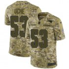 Cheap Nike Patriots #53 Josh Uche Camo Youth Stitched NFL Limited 2018 Salute To Service Jersey