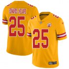 Cheap Nike Chiefs #25 Clyde Edwards-Helaire Gold Youth Stitched NFL Limited Inverted Legend Jersey