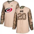 Cheap Adidas Hurricanes #20 Sebastian Aho Camo Authentic 2017 Veterans Day Stitched NHL Jersey