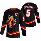 Cheap Calgary Flames #5 Mark Giordano Black Men's Adidas 2020-21 Reverse Retro Alternate NHL Jersey