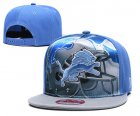Cheap Lions Team Logo Blue Gray Adjustable Leather Hat TX