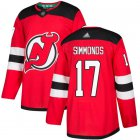 Cheap Adidas Devils #17 Wayne Simmonds Red Home Authentic Stitched NHL Jersey