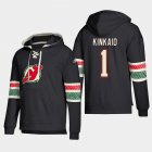 Cheap New Jersey Devils #1 Keith Kinkaid Black adidas Lace-Up Pullover Hoodie