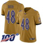 Cheap Nike Ravens #48 Patrick Queen Gold Youth Stitched NFL Limited Inverted Legend 100th Season Jersey