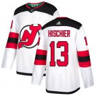 Cheap Adidas Devils #13 Nico Hischier White Road Authentic Stitched Youth NHL Jersey