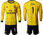Cheap Arsenal #1 Leno Away Long Sleeves Soccer Club Jersey