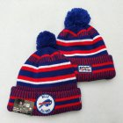 Cheap Bills Team Logo Red Royal 100th Season Pom Knit Hat YD