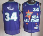Cheap NBA 1995 All-Star #34 Grant Hill Purple Hardwood Classics Soul Swingman Throwback Jersey