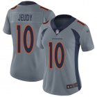 Cheap Nike Broncos #10 Jerry Jeudy Gray Women's Stitched NFL Limited Inverted Legend Jersey