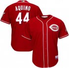 Cheap Men's Reds #44 Aristides Aquino Majestic Scarlet Alternate Official Cool Base Player Jersey