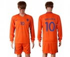 Cheap Holland #10 Sneijder Home Long Sleeves Soccer Country Jersey