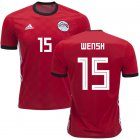 Cheap Egypt #15 Wensh Red Home Soccer Country Jersey