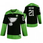 Cheap St. Louis Blues #21 Tyler Bozak Men's Adidas Green Hockey Fight nCoV Limited NHL Jersey