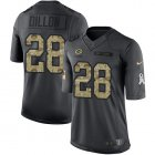 Cheap Nike Packers #28 AJ Dillon Black Youth Stitched NFL Limited 2016 Salute to Service Jersey