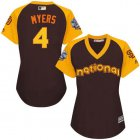 Cheap Padres #4 Wil Myers Brown 2016 All-Star National League Women's Stitched MLB Jersey