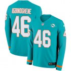 Cheap Nike Dolphins #46 Noah Igbinoghene Aqua Green Team Color Youth Stitched NFL Limited Therma Long Sleeve Jersey