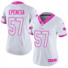 Cheap Nike Bills #57 A.J. Epenesas White/Pink Women's Stitched NFL Limited Rush Fashion Jersey