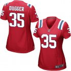 Cheap Nike Patriots #35 Kyle Dugger Red Alternate Women's Stitched NFL Elite Jersey