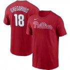 Cheap Philadelphia Phillies #18 Didi Gregorius Nike Name & Number T-Shirt Red