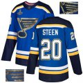 Cheap Adidas Blues #20 Alexander Steen Blue Home Authentic Fashion Gold Stanley Cup Champions Stitched NHL Jersey