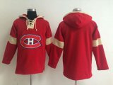 Cheap Montreal Canadiens Blank Red Pullover NHL Hoodie
