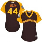 Cheap Cubs #44 Anthony Rizzo Brown 2016 All-Star National League Women's Stitched MLB Jersey