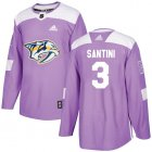 Cheap Adidas Predators #3 Steven Santini Purple Authentic Fights Cancer Stitched NHL Jersey