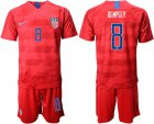 Cheap USA #8 Dempsey Away Soccer Country Jersey