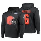 Cheap Cleveland Browns #6 Baker Mayfield Nike NFL 100 Primary Logo Circuit Name & Number Pullover Hoodie Anthracite