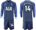 Cheap Tottenham Hotspur #14 Nkoudou Away Long Sleeves Soccer Club Jersey
