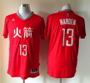 Cheap Houston Rockets #13 James Harden Revolution 30 Swingman 2015 Chinese Red Fashion Jersey