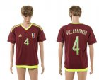 Cheap Venezuela #4 Vizcarrondo Home Soccer Country Jersey