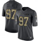 Cheap Nike Raiders #97 Maliek Collins Black Youth Stitched NFL Limited 2016 Salute to Service Jersey