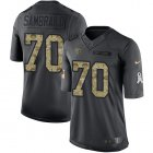 Cheap Nike Titans #70 Ty Sambrailo Black Youth Stitched NFL Limited 2016 Salute to Service Jersey